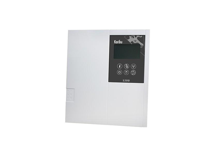Karibu Bio-Kombiofen 9 kW inkl. Steuergerät Classic Bio + 18kg Diabas-Steinen + Anschlusskabel