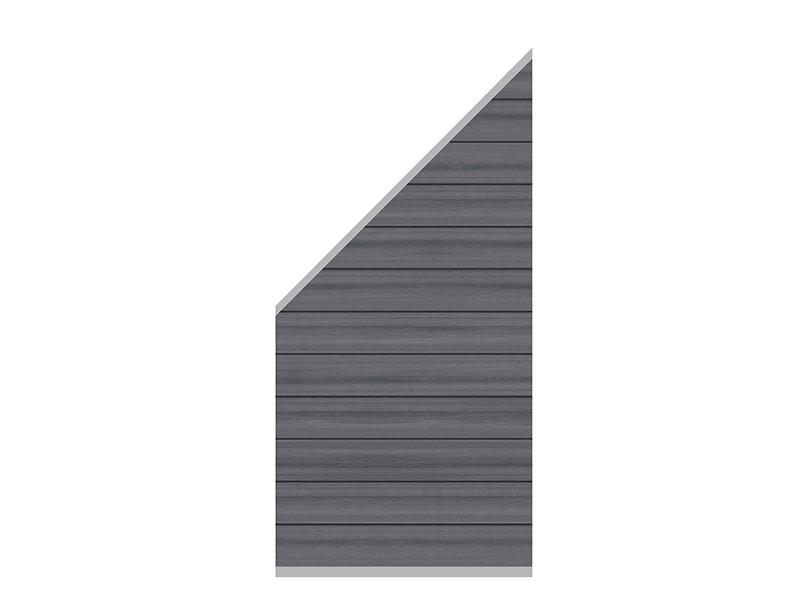 TraumGarten Sichtschutzzaun System WPC Platinum - Anschluss Set - grau  - 91 x 183 auf 93 cm
