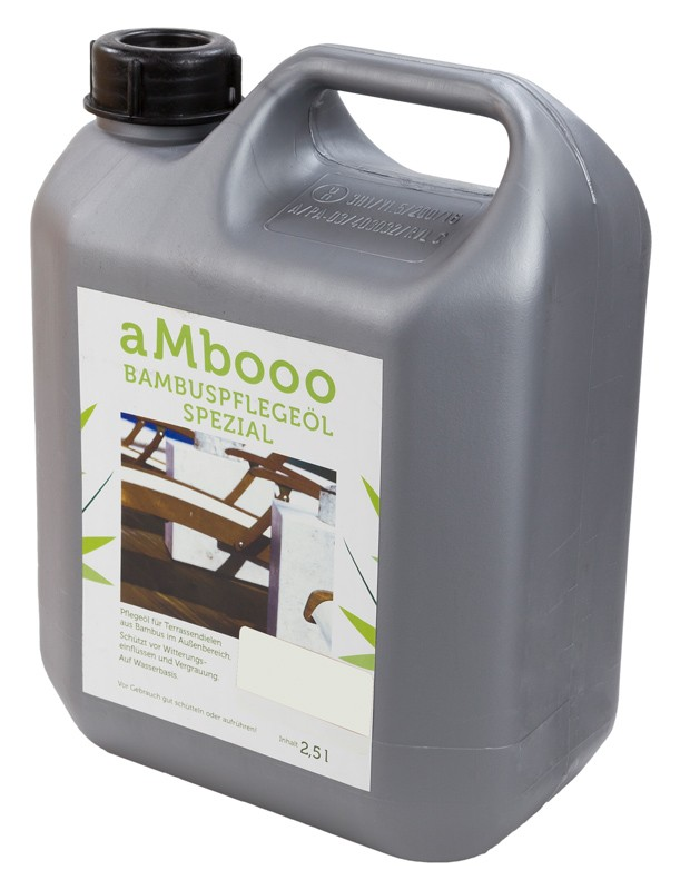 aMbooo Terrassendielen Bambus Pflegeöl 2,5 ltr.   Farbe  Midnight Black