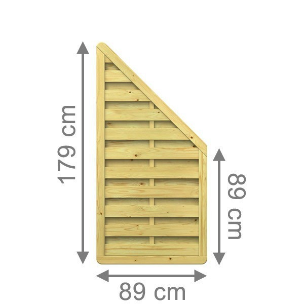 TraumGarten Sichtschutzzaun Nadelholz XL Anschluss kdi - 89 x 179 auf 89 cm