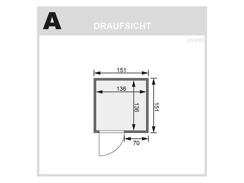 Karibu 68mm Systembausauna Norin - Fronteinstieg - bronzierte Ganzglastür - ohne Dachkranz - 4,5kW Saunaofen mit externer Steuerung Easy