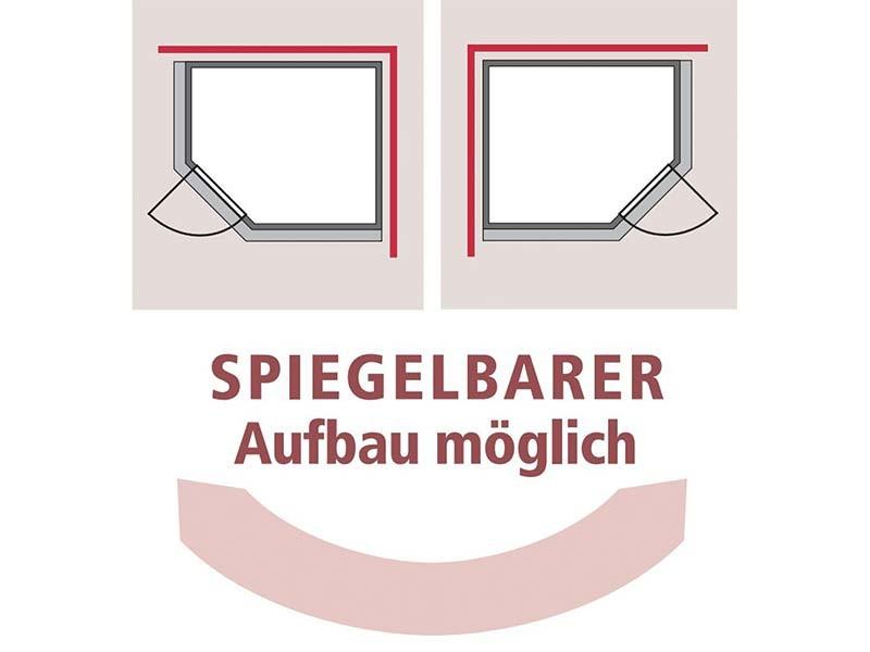 Karibu 68mm Systembausauna Siirin - Eckeinstieg - Ganzglastür graphit - mit Dachkranz - 4,5kW Bio-Kombiofen mit externer Steuerung Easy bio