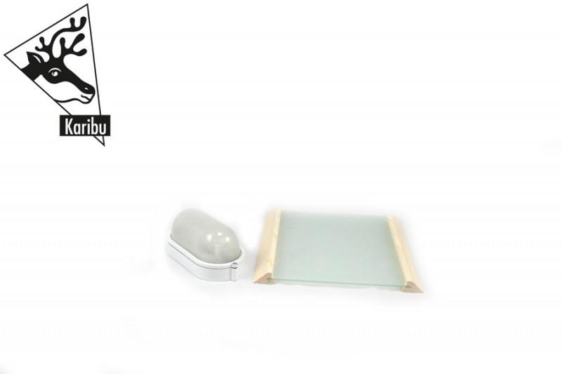 Karibu Leuchte PREMIUM 400 Volt - Kabel C nötig für Sauna