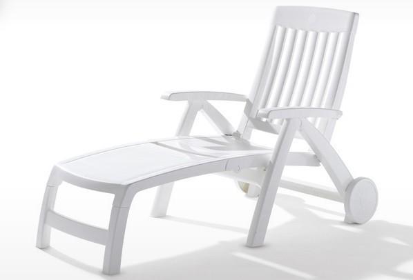 Sieger Klapprollliege PALMA - Farbe: weiß