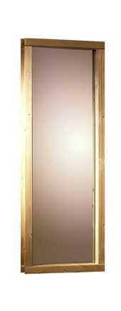 Karibu 68mm Systembausauna Simara 3 Eckeinstieg mit Bronzierter Tür - inkl. Fenster