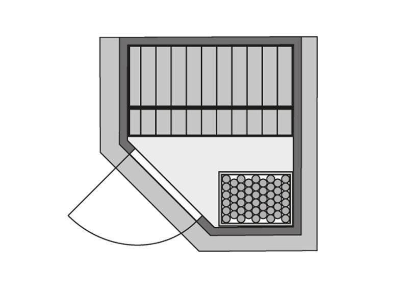 Karibu Heimsauna Alicja (Eckeinstieg) ohne Zubehör mit Dachkranz Plug & Play 230Volt Sauna