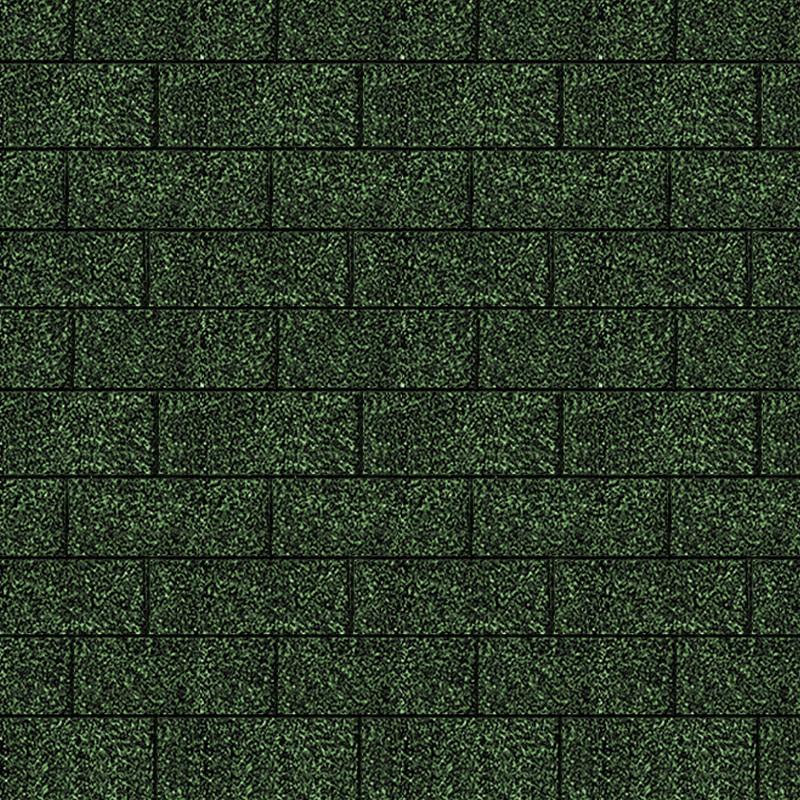 Karibu Dachschindeln Rechteck - Dunkelgrün 3m² Pakete