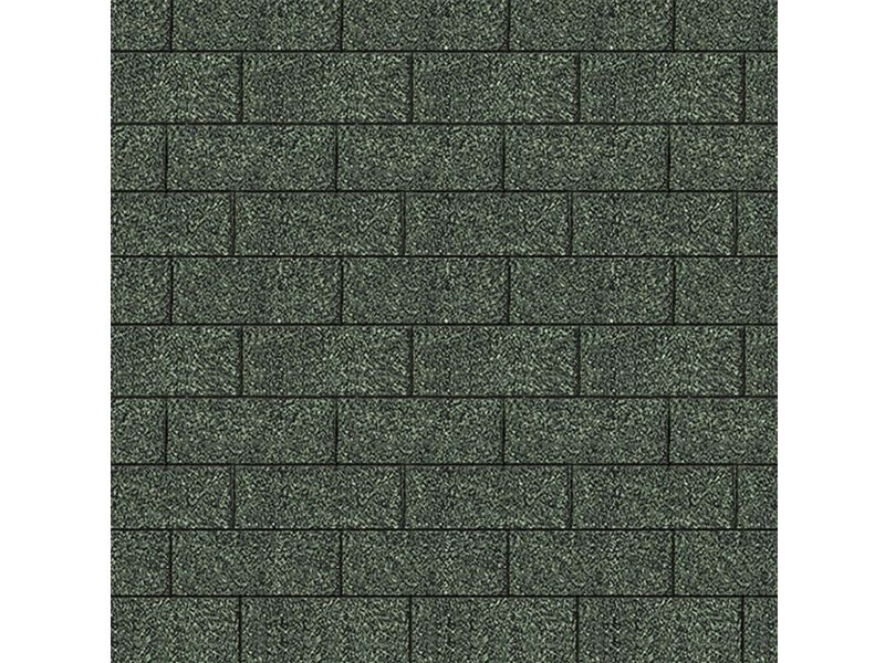Karibu Dachschindeln Rechteck - Dunkelgrün - 3qm Paket
