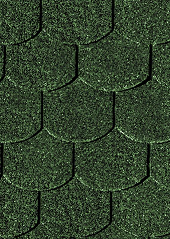 Karibu Dachschindeln Biberschwanz - Dunkelgrün 3m² Pakete