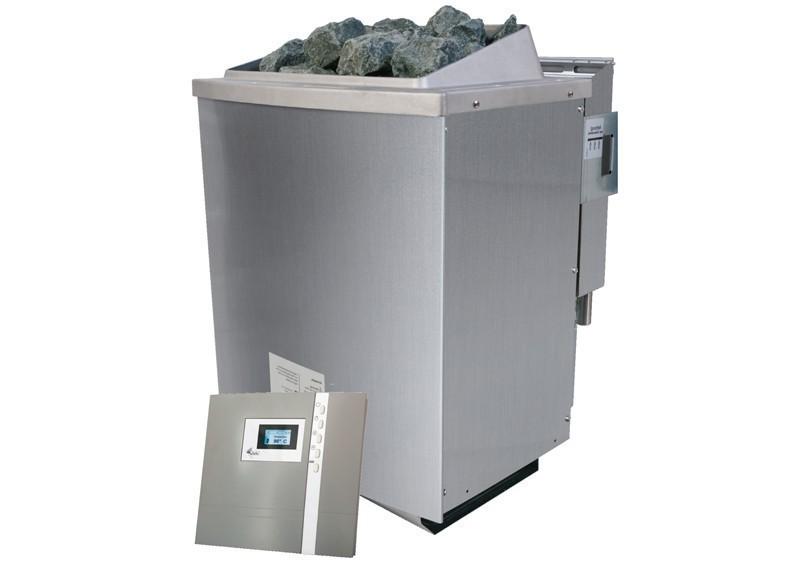 Karibu Bio-Kombiofen 9 kW - inkl. ext. Steuerung Premium und Kabel A + D