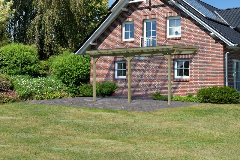 Karibu Holz Terrassenüberdachung Modell 1 ECO - Grösse B (203 x 433) cm - kdi