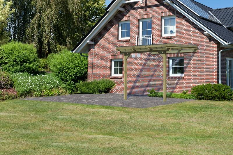 Karibu Holz Terrassenüberdachung Modell 2 ECO - Grösse A (303 x 244) cm - kdi