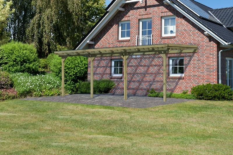 Karibu Holz Terrassenüberdachung Modell 2 ECO - Grösse C (303 x 622) cm - kdi