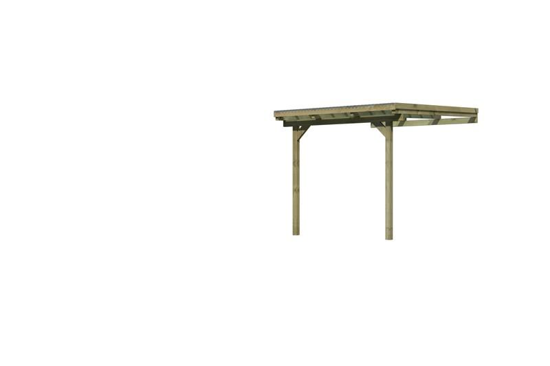 Karibu Holz Terrassenüberdachung Modell 3 ECO - Grösse A (364 x 244) cm - kdi