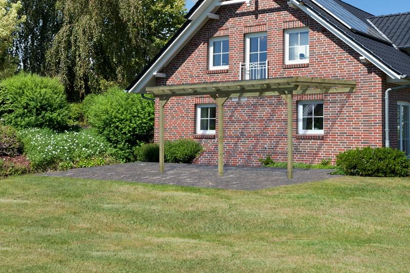 Karibu Holz Terrassenüberdachung Modell 3 ECO - Grösse B (363 x 433) cm - kdi