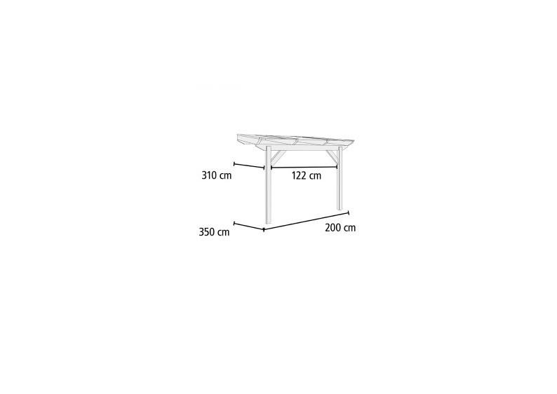 karibu holz terrassen berdachung modell 3 classic gr e a 350 x 200 cm leimholz natur. Black Bedroom Furniture Sets. Home Design Ideas