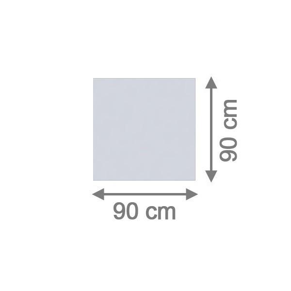 TraumGarten Sichtschutzzaun System Glas Matt Rechteck - 90 x 90 x 0,8 cm