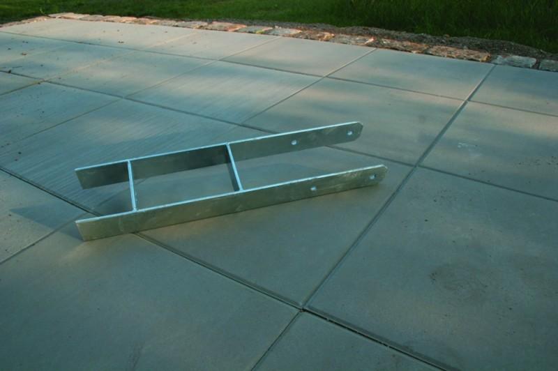 Karibu H-Pfostenanker 4er Set für 12 x 12 cm Pfosten - verzinkter Stahl