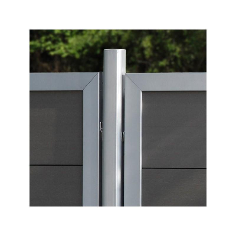 TraumGarten Zaunpfosten Universal Set silber zum Erdverbau - 7 x 7 x 240 cm