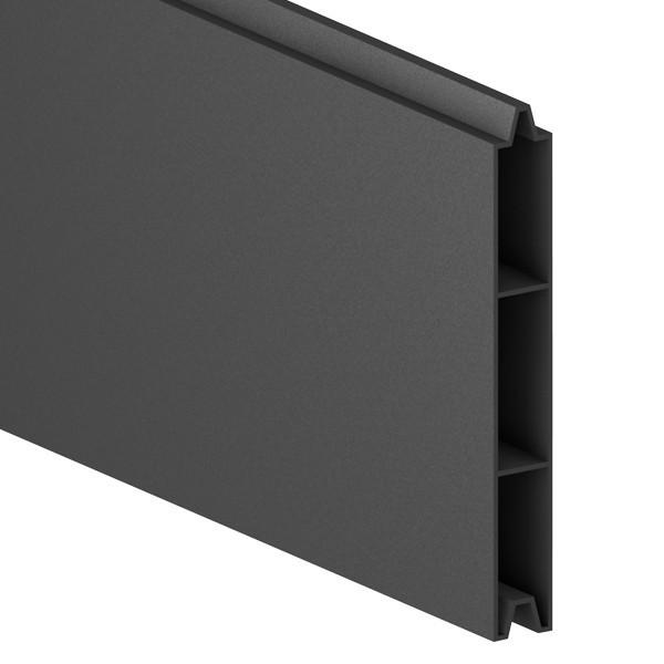 TraumGarten Einzelprofil System Alu Classic anthrazit - 15 x 2 x 179 cm