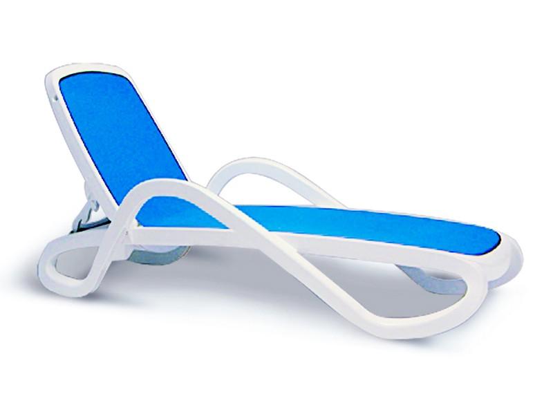 Best Stapelliege Alfa weiß/blau