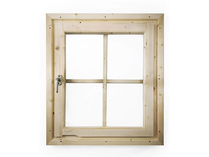 Karibu Holz Fenster für 28 mm Wandstärke - Dreh-/Kipptechnik - naturbelassen