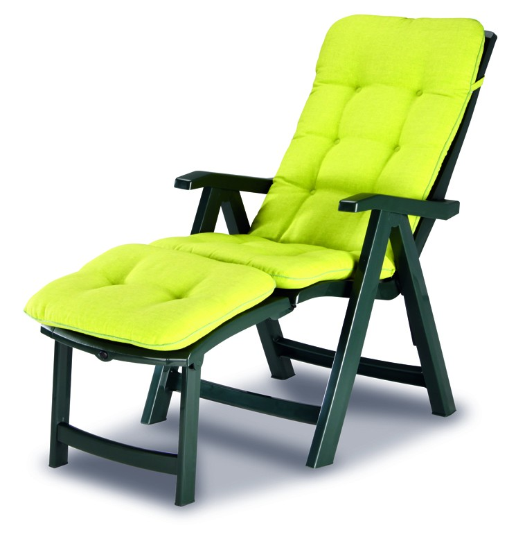 Best Klappsessel / Deck-Chair Florida grün - inkl. Polster
