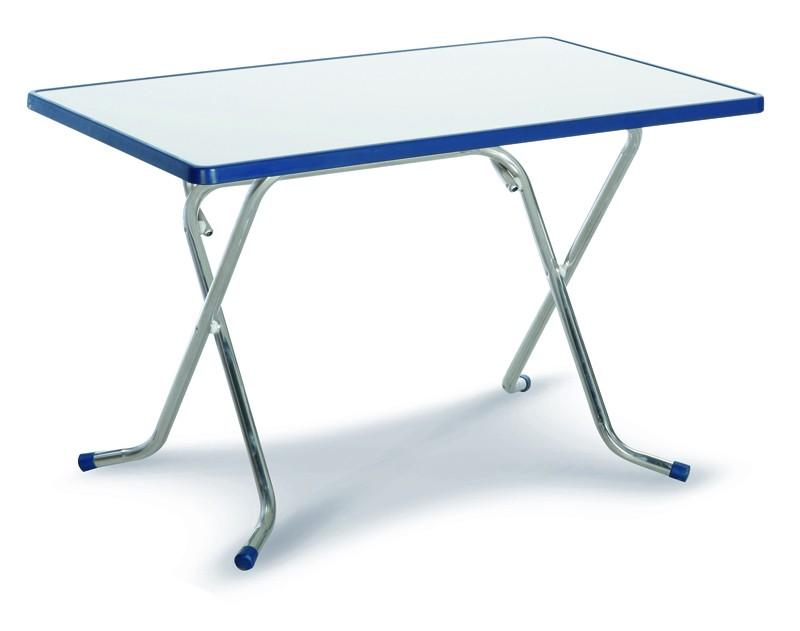 Best Scherenklapptisch Nizza 110x70cm silber/blau