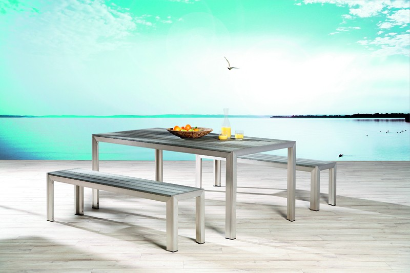 Best Tisch Seattle 180x90x76cm silber/anthrazit