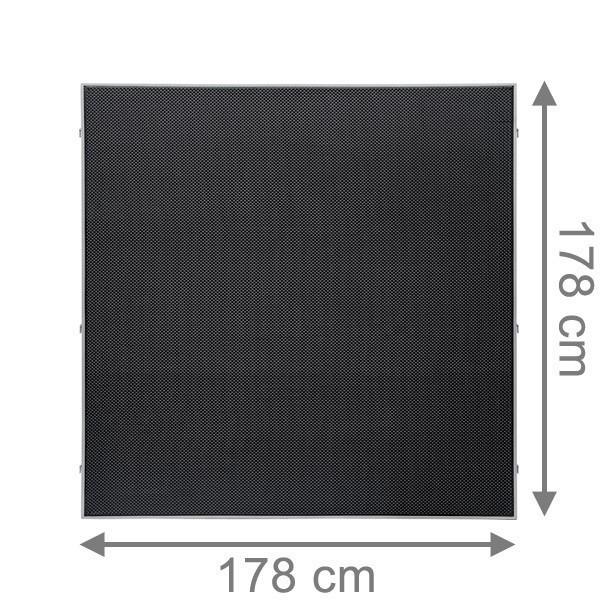 TraumGarten Sichtschutzzaun Weave LÜX Rechteck anthrazit - 178 x 178 cm