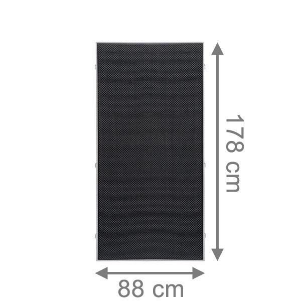 TraumGarten Sichtschutzzaun Weave LÜX Rechteck anthrazit - 88 x 178 cm