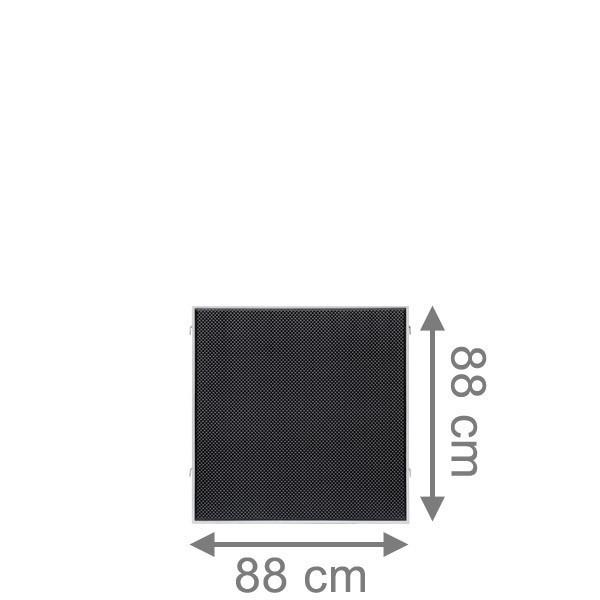 TraumGarten Sichtschutzzaun Textil-Geflecht Weave LÜX Rechteck anthrazit - 88 x 88 cm