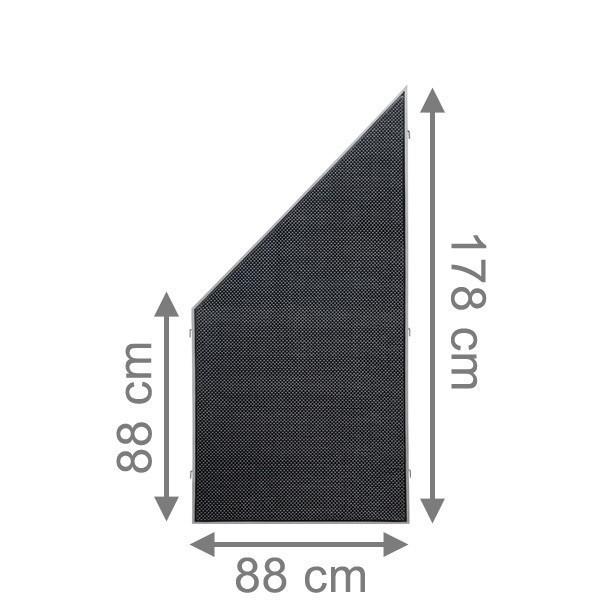 TraumGarten Sichtschutzzaun Weave LÜX Rechteck anthrazit - 88 x 178 auf 88 cm