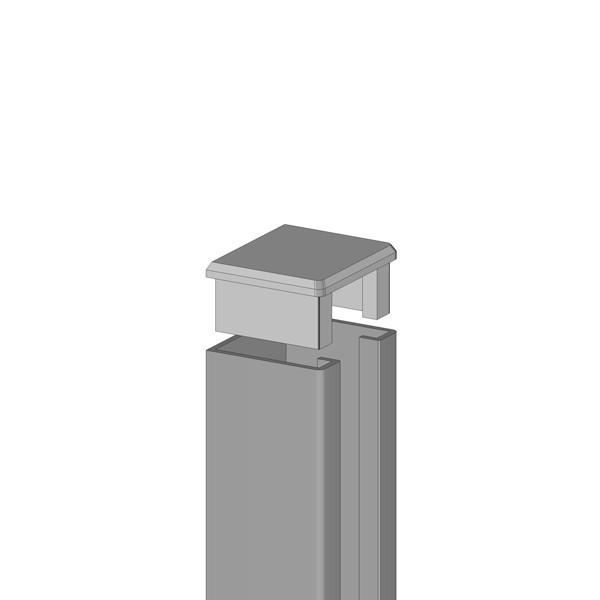 TraumGarten U-Steckprofil System Set silber - 3 x 4 x 195 cm