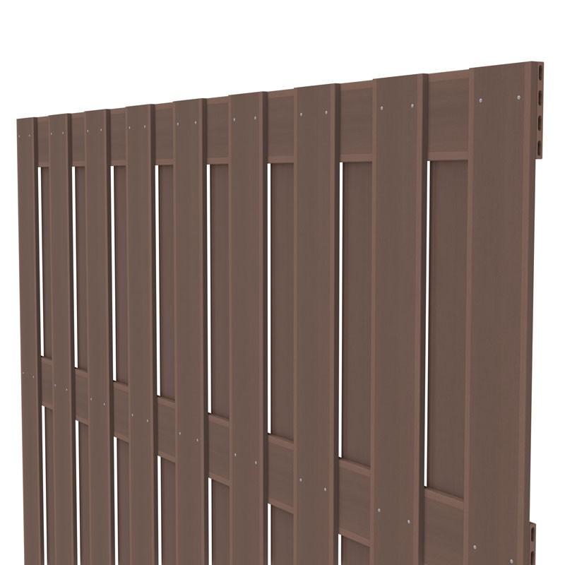 TraumGarten Sichtschutzzaun Jumbo WPC Rechteck braun - 179 x 179 cm