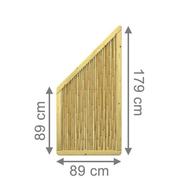 TraumGarten Sichtschutzzaun Nadelhoz und Bambus Bambu Anschluss naturbelassen - 89 x 179 auf 89 cm