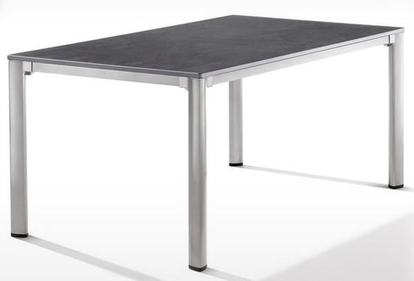 Sieger Exclusiv Tisch Puroplan Schiefer anthrazit 165x95cm - Gestell graphit