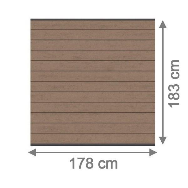 TraumGarten Sichtschutzzaun System WPC Set mandel / anthrazit - 178 x 183 cm