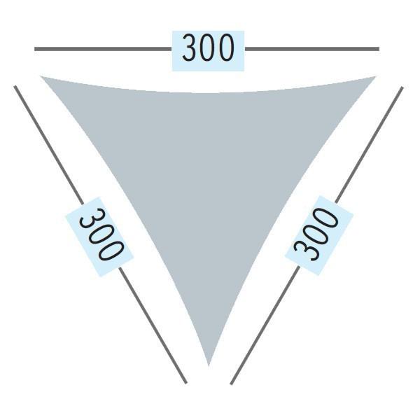 TraumGarten Sonnensegel Dreieck 140 g/qm sand - 300 x 300 x 300 cm