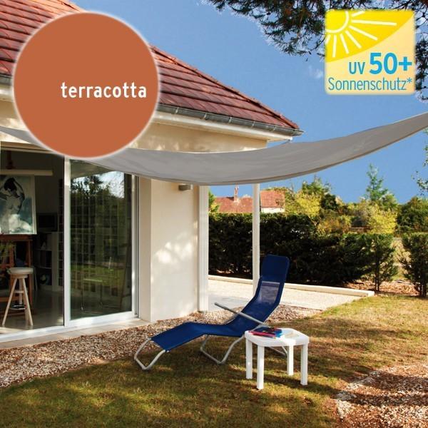 TraumGarten Sonnensegel Dreieck 140 g/qm terracotta - 300 x 300 x 300 cm