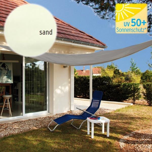 TraumGarten Sonnensegel Dreieck 160 g/qm sand - 300 x 300 x 300 cm