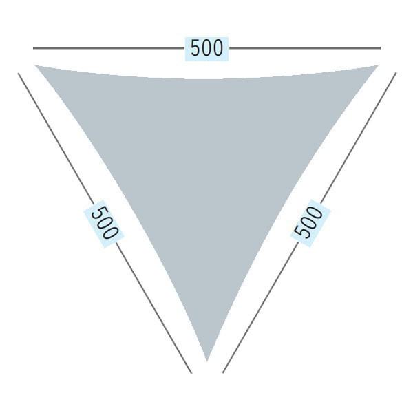 TraumGarten Sonnensegel Dreieck 180 g/qm sand - 500 x 500 x 500 cm