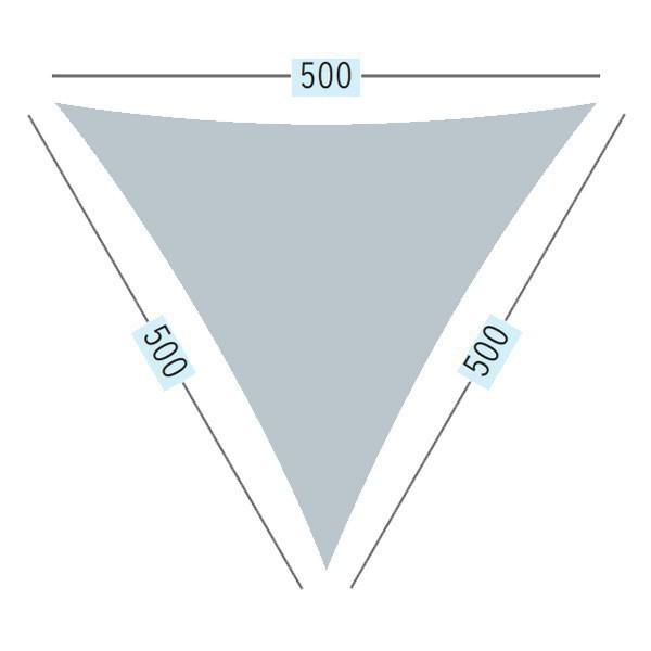 TraumGarten Sonnensegel Dreieck 180 g/qm terracotta - 500 x 500 x 500 cm