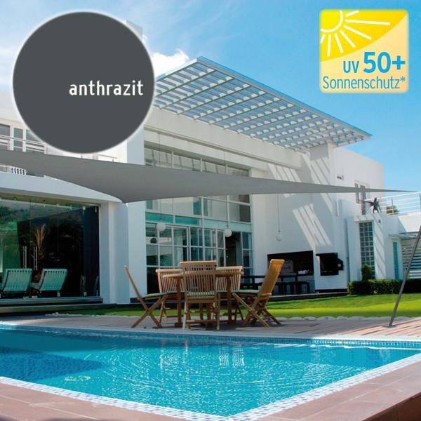 TraumGarten Sonnensegel Dreieck 180 g/qm anthrazit - 500 x 500 x 500 cm