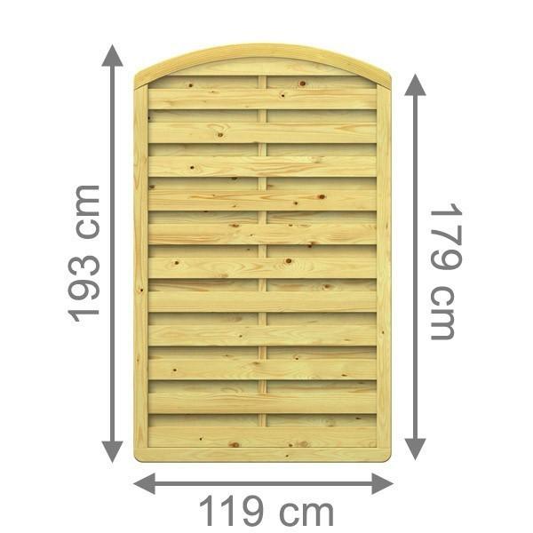 TraumGarten Sichtschutzzaun XL Rundbogen x 119 x 179 (193) cm