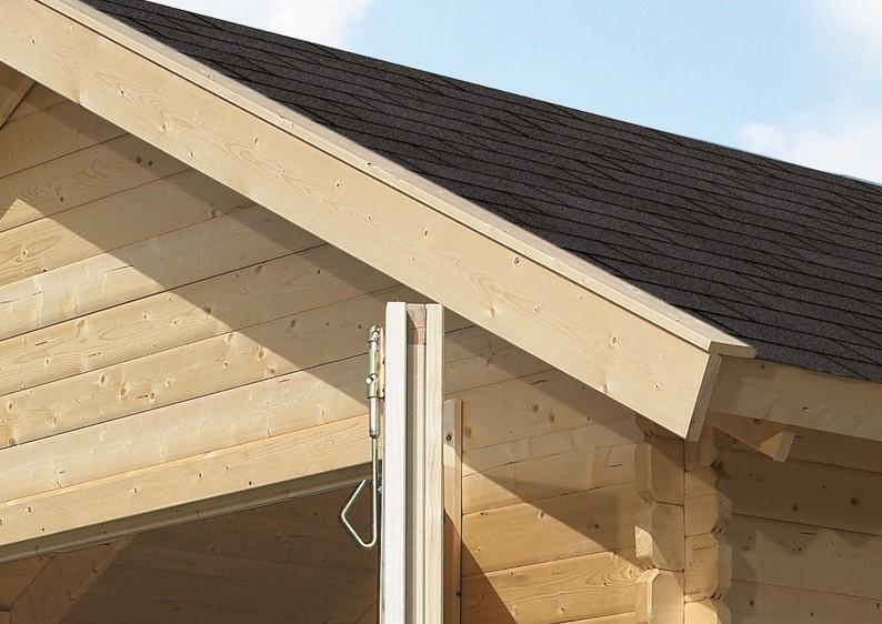 Karibu Holzgarage mit Satteldach 40 mm - naturbelassen