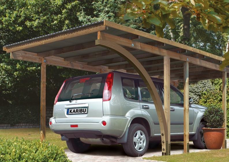 Karibu Holz Einzelcarport Eco 2 Variante A - kesseldruckimprägniert