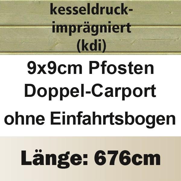 Karibu Holz Doppelcarport Eco 2 Variante A - kesseldruckimprägniert