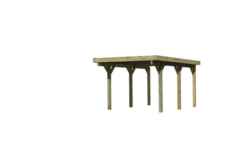 Karibu Holz Einzelcarport Classic 1 Variante A - PVC Dach