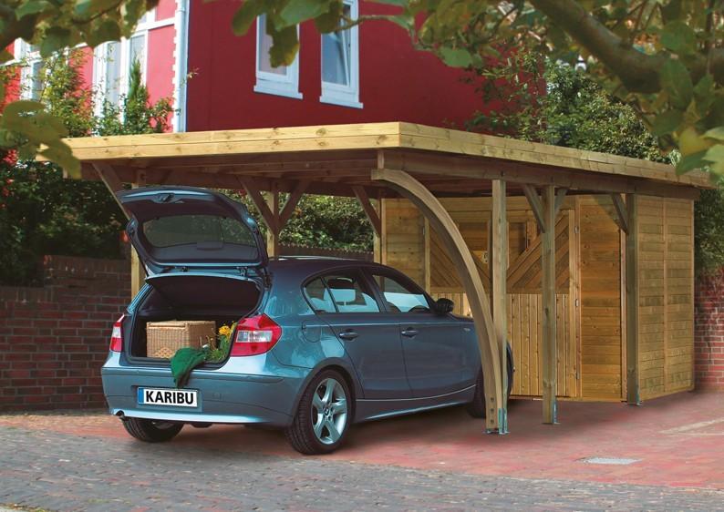 Karibu Holz Einzelcarport Classic 3 Variante A - Stahl Dach